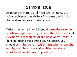 Explain Why You Should Be Considered For The Position Analytical Writing Issue Task Ppt Download
