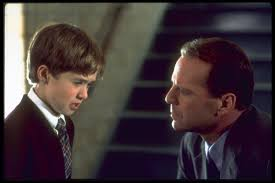 Bruce Willis and Haley Joel Osment in The Sixth Sense (1999)