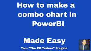 Powerbi Combo Chart How To Make A Combo Chart Or A 2 Axis Chart Or A Column Line Chart In Powerbi