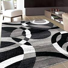 works well with gray walls and dark hardwood floors complements as black white rug tan area