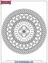 Small Picture Abstract Mandala Design Coloring Page H M Coloring Pages