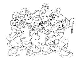Disney Christmas Coloring Pages To Print Colouring Printable Concept