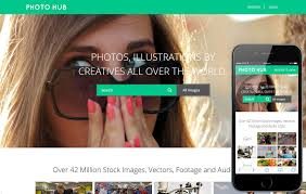 Photo Hub Photo Gallery Website Template W3layouts Com