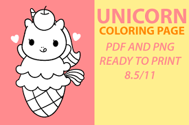You can find here 141 free printable kawaii coloring pages for boys, girls and adults. Cute Kawaii Unicorn Coloring Page Graphic By Mah Moud Creative Fabrica