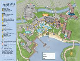 like wilderness lodge the beach club villas are located in a separate wing of the resort a map