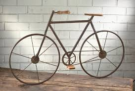 metal wood bicycle wall art on bike wall decor with basket with metal wood bicycle wall art tripar international inc