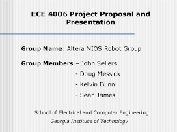 Project Proposal Presentation Ece 4006 Project Proposal And Presentation