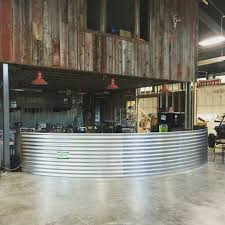 Outside Bar Repurposed Barn Beam And Grain Silo Panel Would Be An Awesome
