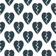 Abstract Black Retro Broken Heart Love ...