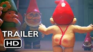 sherlock gnomes official trailer 1 2018 johnny depp emily blunt animated hd