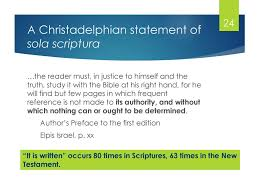 Christadelphian Reading Chart Ministers By Whom We Believed Ppt Download