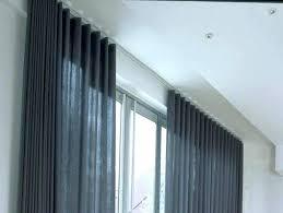 ceiling curtain track.  Ceiling Ceiling Curtain Track System Custom Drapery Tracks Curved  Inside Plan