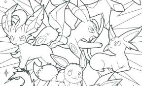Pokemon Coloring Pages Eevee Evolutions Glaceon Free Charizard X