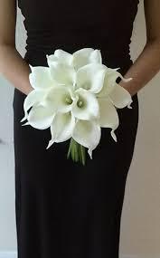 Bouquet de mariée fleur de Lys Calla blanc avec Calla <b>Lily</b> fleur à la ...