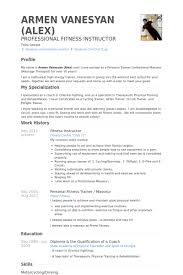 Resume For Personal Trainer Gorgeous Sample Resume For Zumba Instructor