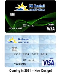 debit card pa central federal credit
