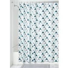 interdesign shower curtain triangles shower curtain deep teal mint interdesign cameo shower curtain tension rod