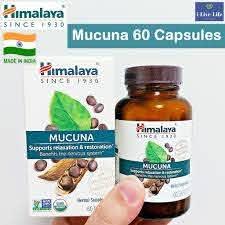 สารสกัดเมล็ดหมามุ่ยอินเดียออแกนิค Mucuna Certified USDA Organic 250mg 60  Caplets - Himalaya®