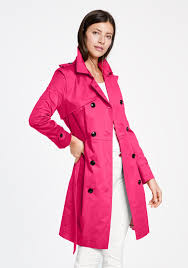 taifun double ted trench coat hot pink
