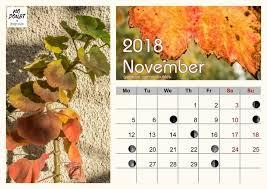 Printable Moon Calendar November 2018 Kayros