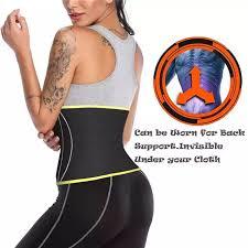 Ningmi Neoprene Sauna Body Shaper Waist Trainer For Women Tummy Trimmer Modeling Strap Cincher Shaper Waist Belt Slimming Girdle