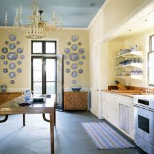 Yellow Kitchen French Country Kitchen Blue Yellow Pretentious Brf Pool House