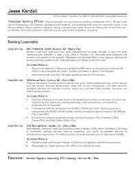 Banking Resume Bank Samples Sample Professional Resumes Effective