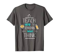 T Shirt Quotes Classy Amazon Teacher TShirt Teach Think Quotes Science Tee With