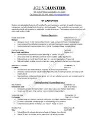 Where To Put Volunteer Work On Resume Free Resume Example And