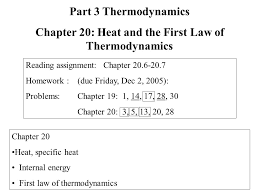 chapter heat specific heat internal energy first law of 1 chapter