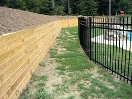 landscape timber fence landscape timber fence ideas backyard pool pressure treated timber retaining wall traditional landscape