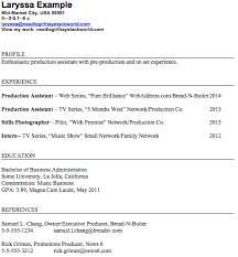 Tv Production Resume Examples What Does A Production Assistant Resume Look Like Resume