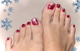 Toe Nail Art Designs 30 Best And Easy Christmas Toe Nail Designs Christmas Celebration