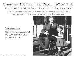 roosevelt new deal essay
