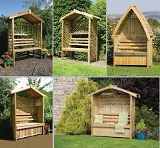 garden arbour seat pergola trellis wood arch bench corner storage design 49