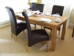 Faux Leather Dining Room Chairs Oak Solid Oak Dining Table Set Cm Leather Dining Table Review