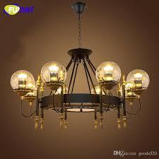 fumat loft industrial black chandelier lamps retro glass shade re led suspension lamps living room vintage chandeliers light blue chandelier wooden