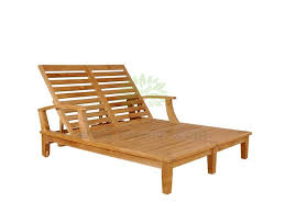 anderson contemporary arm double teak sun lounger