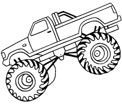 Monster Truck Color Pages Printable Monster Truck Coloring Pages