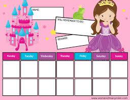 Who S Here Today Chart Printable Princess Reward Chart Printable Woman Of Many Roles