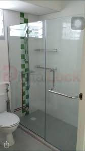 shower screen glass to wall shower screen for and re install above the curb my digital