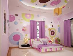 Pink And Blue Girls Bedroom Cool Colorful Square Pattern Wall Colors Theme Girls Bedroom