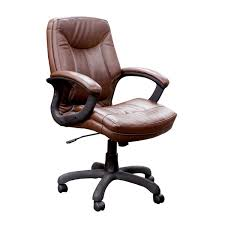 ofd 7100 sad executive mid back faux leather chair brown