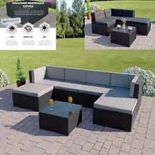 outdoor covers for garden furniture. image is loading blackrattanmodularcornersofasetgardenfurniture outdoor covers for garden furniture