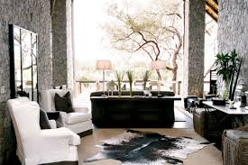 Open Plan African Living Theme Interior Design Idea
