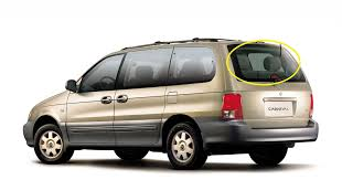 kia carnival kv 9 1999 to 7 2006 van rear windscreen glass brake light at top new