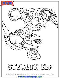 Small Picture Skylanders Giants Life Series2 Stealth Elf Coloring Page H M