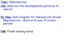 Venn Diagram Of Asexual And Sexual Reproduction Topic Reproduction Aim Describe The Developmental Patterns