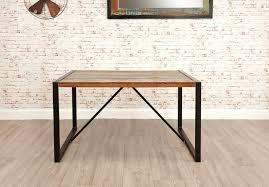 baumhaus urban chic reclaimed wood rectangular dining table 140cm