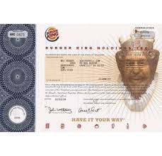 Stock Certificats Burger King Holdings Inc No Longer Issuing Stock Certificates